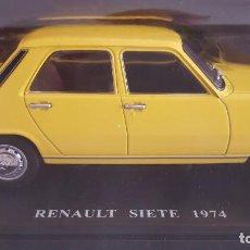 Coches a escala: RENAULT SIETE 1974, ESCALA 1:24 NUEVO EN SU BLISTER SIN ABRIR (SIN FASCICULO) (COCHES INOLVIDABLES). Lote 218767030