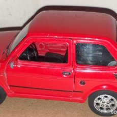Coches a escala: COCHE FIAT 126 RED 1:24 WELLY SEAT 126P. Lote 222476698