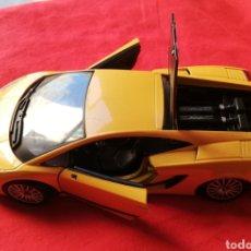 Coches a escala: LAMBORGHINI GALLARDO SUPERLEGGERA - MOTOR MAX ( MADE IN CHINA ) ESCALA: 1/24 - DEFECTUOSO. Lote 224029771