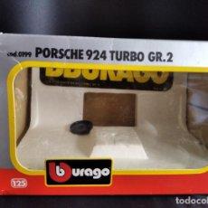 Coches a escala: CAJA VACIA PARA PORSCHE 924 TURBO GR.2 DE BURAGO DIECAST METAL- 1/25 EN CAJA. Lote 224490702