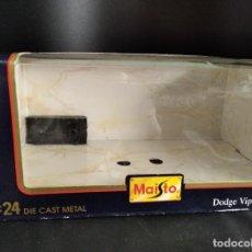 Coches a escala: CAJA VACIA PARA DODGE VIPER RT/10 1995 DE MAISTO- 1/24 EN CAJA. Lote 224490913