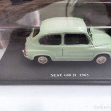 Coches a escala: SEAT 600 D 1963 ESCALA 1/24, SALVAT, NUEVO. Lote 246249410