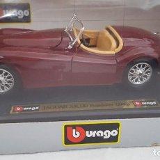 Coches a escala: BURAGO JAGUAR XK 120 ROADSTER 1948 ESCALA 1:24, NUEVO EN SU CAJA. Lote 232603808