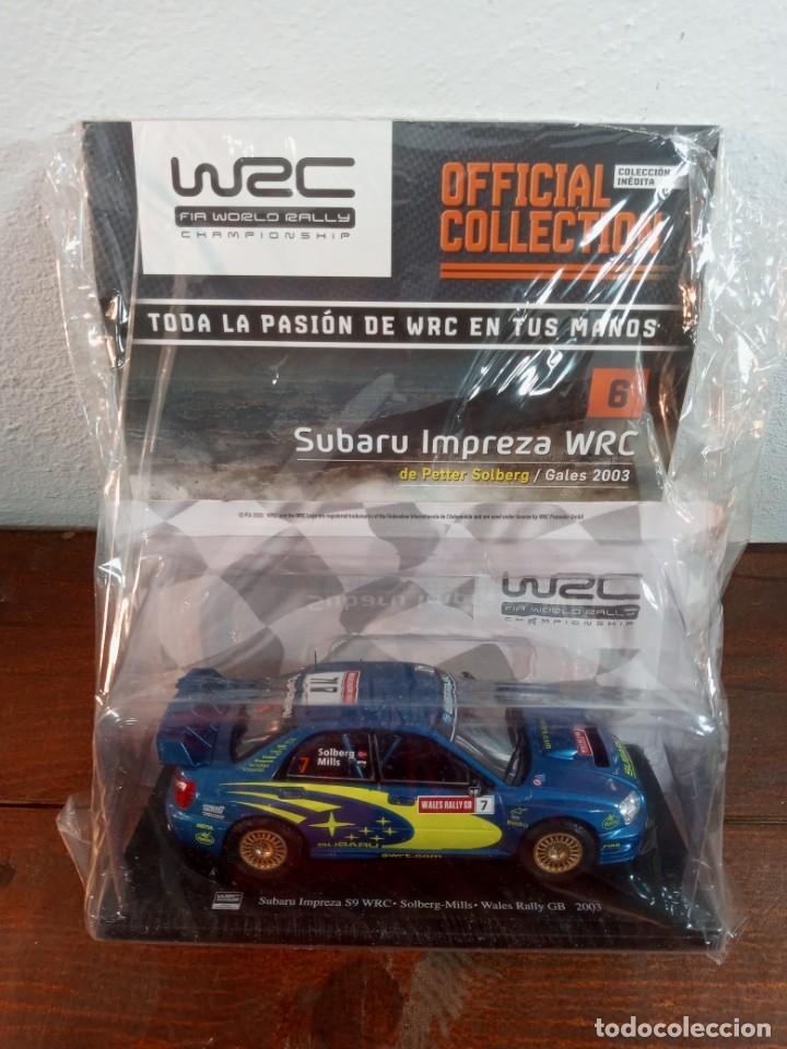 WRC WORLD RALLY CHAMPIONSHIP N. 6 - SUBARU IMPREZA WRC, PETTER SOLBERG GALES 2003 (PRECINTADO) (Juguetes - Coches a Escala 1:24)