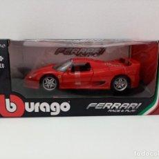 Coches a escala: BURAGO FERRARI RACE & PLAY F50 ESCALA 1/24. Lote 243814805