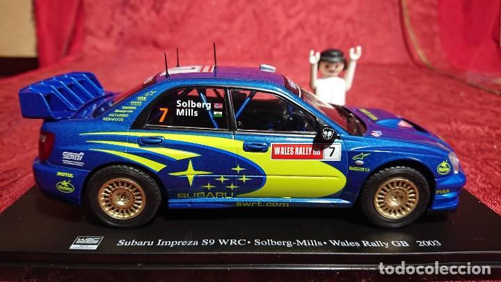 COCHE DE COLECCION SUBARU IMPREZA S9 WRC - SOLBERG -MILLS- WALES RALLY GB 2003 - ESCALA 1:24 - (Juguetes - Coches a Escala 1:24)