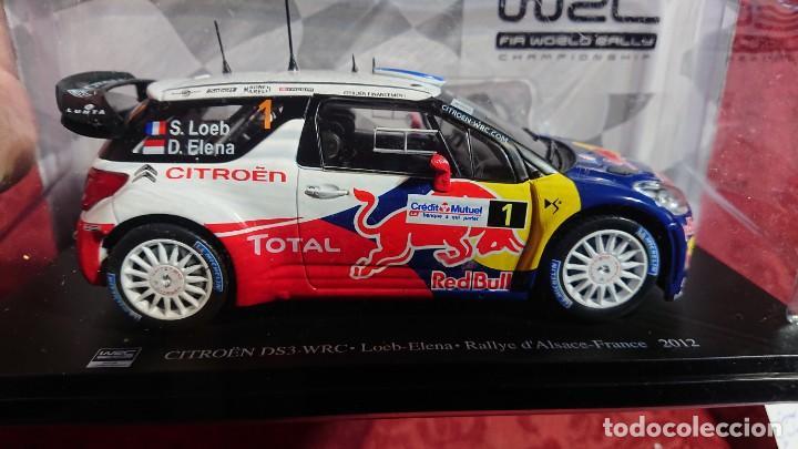 COCHE CITROËN DS3 WRC - LOEB-ELENA - RALLYE D'ALSACE-FRANCE 2012 - LICENCIA RED BULL - ESCALA 1:24 (Juguetes - Coches a Escala 1:24)