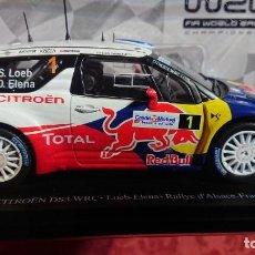 Coches a escala: COCHE CITROËN DS3 WRC - LOEB-ELENA - RALLYE D'ALSACE-FRANCE 2012 - LICENCIA RED BULL - ESCALA 1:24. Lote 246225615