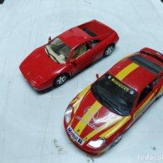 Coches a escala: LOTE 2 COCHES BURAGO PORSCJE CARRERA 911 Y FERRARI 348 TB MADE IN ITALIA ESC. 1/24. Lote 254482030