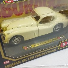 Coches a escala: BURAGO JAGUAR XK 120 COUPÉ 1948 ESCALA 1:24. Lote 257421145