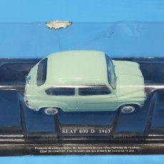 Coches a escala: SEAT 600 D 1963 - ESCALA 1: 24 - EDITORIAL SALVAT. Lote 261173510