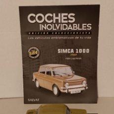 Coches a escala: SIMCA 1000 1969 SALVAT 1/24. Lote 261861640