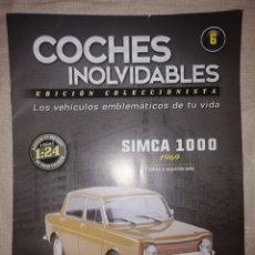 Coches a escala: COCHES INOLVIDABLES. SIMCA 100. FACCICULO N°6 SALVAT. Lote 262151410