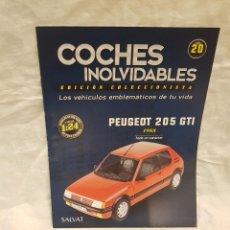 Coches a escala: PEUGEOT 205 GTI 1988. Lote 262881710