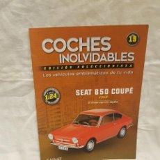 Coches a escala: SEAT 850 COUPE 1967 Y LIBRO COCHES INOLVIDABLES. Lote 262886885