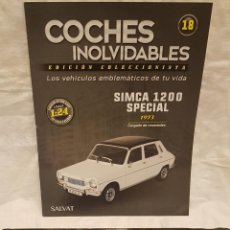 Coches a escala: SIMCA 1200 SPECIAL 1973 Y LIBRO COCHES INOLVIDABLES. Lote 262891220