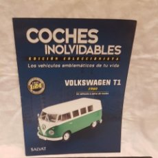 Coches a escala: VOLKSWAGEN T1 1960 CAJA ORIGINAL Y LIBRO COCHES INOLVIDABLES. Lote 262943455