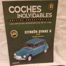 Coches a escala: CITROEN DYANE 6 AÑO 1970 CAJA ORIGINAL Y LIBRO COCHES INOLVIDABLES. Lote 262944155