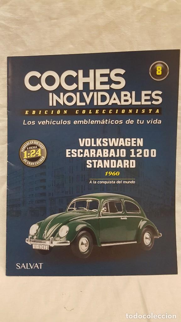 Coches a escala: VOLKSWAGEN ESCARABAJO 1200 STANDARD 1960 Y LIBRO COCHES INOLVIDABLES - Foto 6 - 266554143
