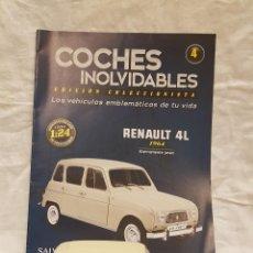 Coches a escala: RENAULT 4L 1964 Y LIBRO COCHES INOLVIDABLES. Lote 266554963