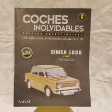 Coches a escala: SIMCA 1000 AÑO1969 Y LIBRO COCHES INOLVIDABLES. Lote 266556748