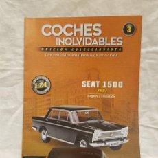 Coches a escala: SEAT 1500 AÑO 1971 Y LIBRO COCHES INOLVIDABLES SALVAT. Lote 266558323