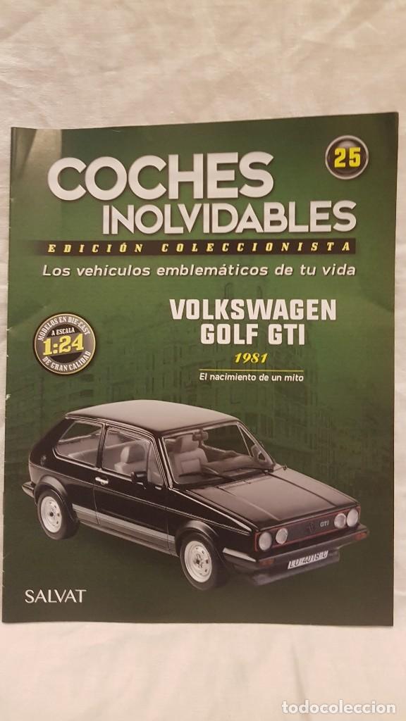Coches a escala: VOLKSWAGEN GOLF GTI AÑO 1981 Y LIBRO COCHES INOLVIDABLES SALVAT - Foto 6 - 266560243