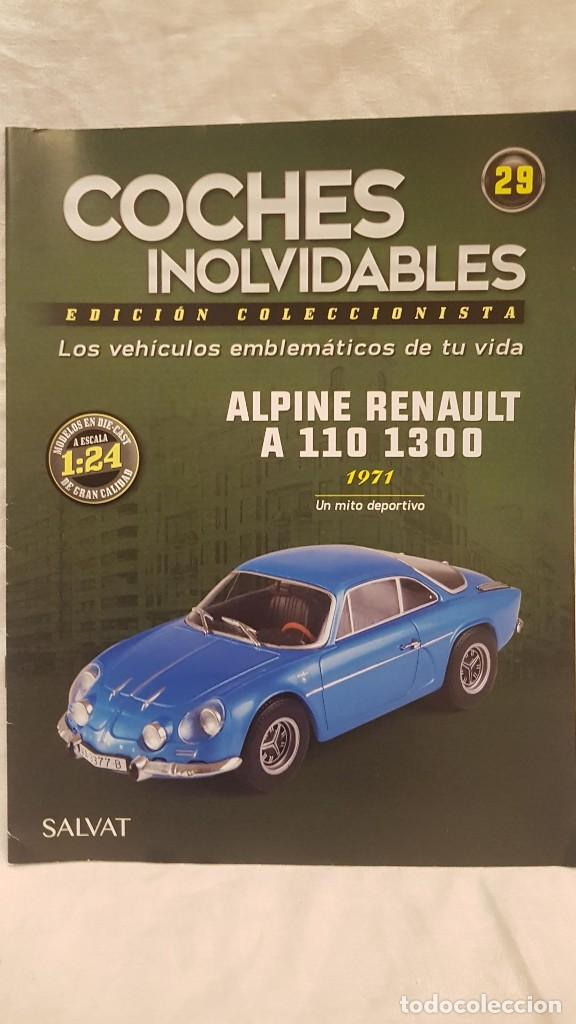 Coches a escala: ALPINE RENAULT A 110 1300 AÑO 1971 Y LIBRO EDICION DEL COLECCIONISTA SALVAT - Foto 6 - 266563528