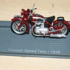 Voitures à l'échelle: MOTO TRIUMPH SPEED TWIN AÑO 1938 BIKE MOTORBIKE MOTOCICLETA 1:24 DIE CAST 1/24 IXO ALTAYA ALFREEDOM. Lote 267024449