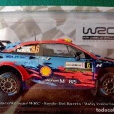 Coches a escala: HYUNDAI I20 COUPE WRC 1/24 SORDO DEL BARRIO RALLY ITALIA SARDEGNA 2019. Lote 278557753