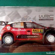 Coches a escala: CITROËN C3 WRC LOEB ELENA RALLY RACC CATALUNYA COSTA DAURADA 2018 1/24 PRECINTADO EN BLISTER. Lote 278558638