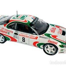 Coches a escala: COCHE RALLY TOYOTA CELICA TURBO 4WD - AURIOL (ESC. 1:24) WRC FIA WORLD, COMPETICIÓN IXO RALLYE N8. Lote 230089720