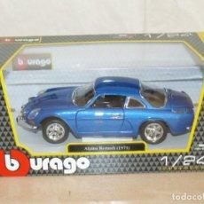 Coches a escala: BURAGO ALPINE RENAULT 1971 AZUL ESCALA 1/24 DIECAST MODEL CAR 1:24 SCALE ALFREEDOM SPORT CAR. Lote 295743598