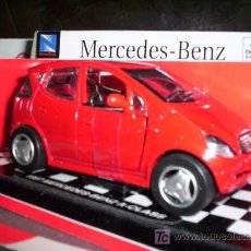 Coches a escala: MERCEDES-BENZ A CLASS AÑO 1997 DE NEW RAY ESC. 1,32 DE METAL. Lote 27512308