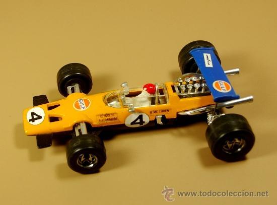 POLITOYS F8 - MCLAREN F1 #4 RACING CAR GULF - B. MC LAREN - ESCALA 1/32 METAL - VINTAGE (Juguetes - Coches a Escala 1:32)