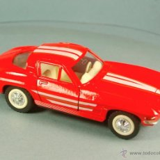 Coches a escala: MAJORETTE ESCALA 1/32 - CHEVROLET CORVETTE STING RAY 1963 - METAL COLOR ROJO - NUEVO VINTAGE RARO. Lote 43343677