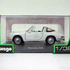 Coches a escala: PORSCHE 911 1967 BLANCO - BURAGO BBURAGO CLASSIC ESCALA 1:32 - DESCAPOTABLE COCHE AUTOMÓVIL CABRIO. Lote 96023991
