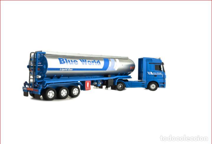 Coches a escala: TRAILER RC BLUE WORLD1:32 NINCO Camión de radio control con sonidos reales, y función de enganche - Foto 2 - 137171622