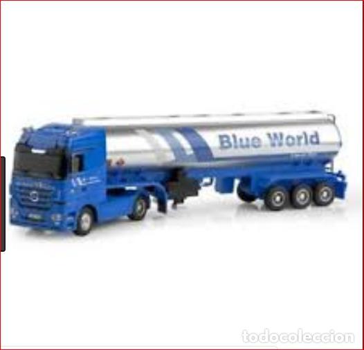 Coches a escala: TRAILER RC BLUE WORLD1:32 NINCO Camión de radio control con sonidos reales, y función de enganche - Foto 3 - 137171622