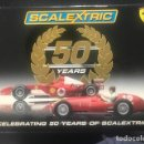 Coches a escala: SCALEXTRIC-50-YEARS-BOX-FERRARI-375-F1-FERRARI-248-F1-LIMITED EDITION NUMBER 2912/7000 MINT CONDIT. Lote 156475134