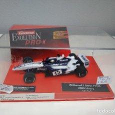 Coches a escala: JJ- WILLIAMS F1 BMW FW24 2003 LIVERY CAR Nº3 CARRERA EVOLUTION PRO-X PROCEDENTE STOCK JUGUETERIA. Lote 169950840