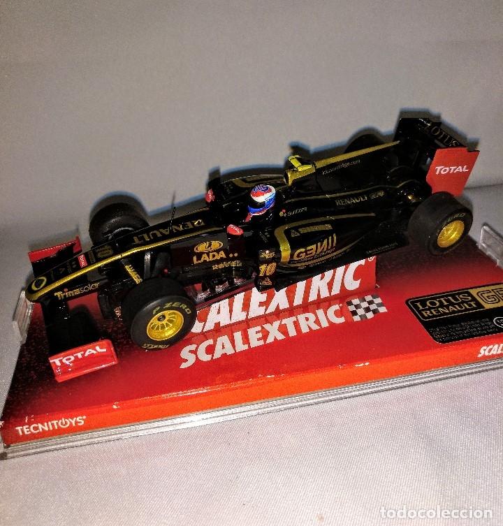Coches a escala: Coche de scalextric Renault Lotus GP en caja expositora - Foto 8 - 174098828