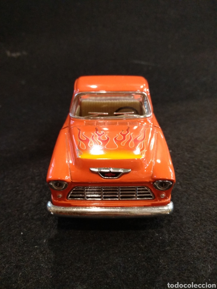 Coches a escala: Coche, Chevy stepside pick-up 1955. Kinsmart 1/32 - Foto 2 - 176975783
