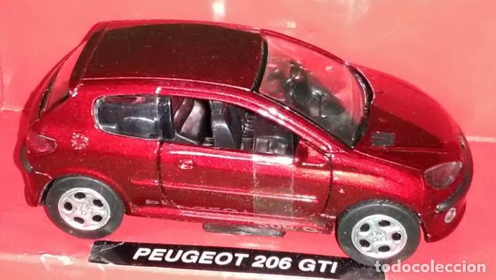 Coches a escala: LOTE COCHE DE METAL - NEWRAY - PEUGEOT 206 GTI - ESCL. 1/32 - Foto 2 - 186439657