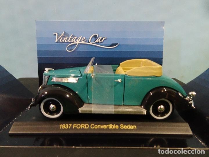 Coches a escala: COCHE 1:32- VINTAGE CAR-FORD CONVERTIBLE SEDAN-AÑO 1937 - Foto 2 - 190203750