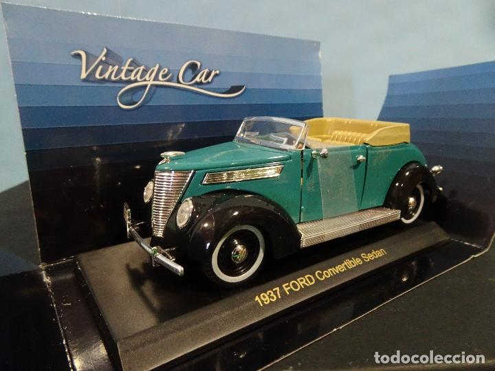 Coches a escala: COCHE 1:32- VINTAGE CAR-FORD CONVERTIBLE SEDAN-AÑO 1937 - Foto 3 - 190203750