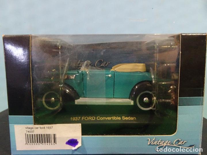 COCHE 1:32- VINTAGE CAR-FORD CONVERTIBLE SEDAN-AÑO 1937 (Juguetes - Coches a Escala 1:32)