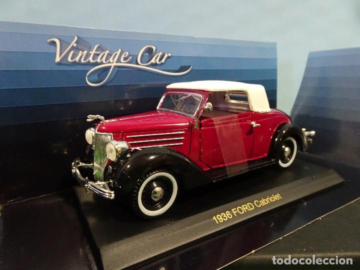 Coches a escala: COCHE 1:32- VINTAGE CAR-FORD CABRIOLET-AÑO 1936 - Foto 3 - 190204145