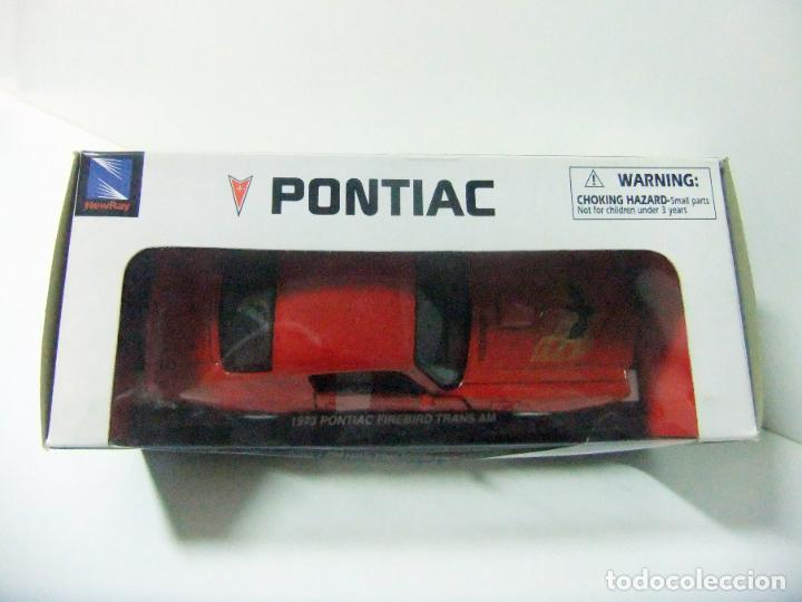 Coches a escala: 1973 PONTIAC FIREBIRD TRANS AM - NEWRAY ESCALA 1:32 - COCHE JUGUETE AMERICAN CAR NEW RAY BULLYCAN - Foto 3 - 191521970