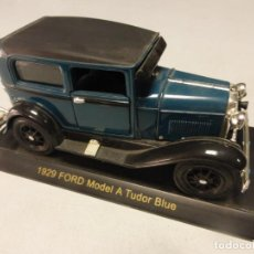 Coches a escala: 1929 FORD MODEL A TUDOR BLUE . ESCALA 1.32 . BUEN ESTADO . Lote 202392608